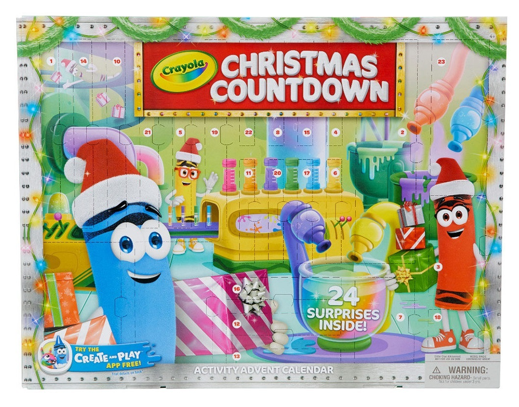 Christmas Countdown Calendar.Crayola Christmas Countdown Advent Calendar 2019