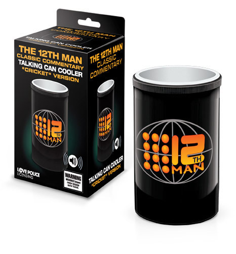 The 12th Man Talking Can Cooler - Cricket