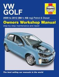 VW Golf Petrol & Diesel (09 - 12) 58 To 62 by Peter T. Gill
