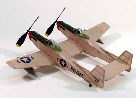"F-82 Twin Mustang 17.5"" Wingspan Model Kit"