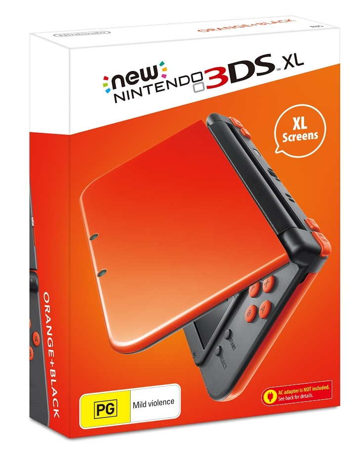 new nintendo 3ds xl orange black nintendo 3ds buy. Black Bedroom Furniture Sets. Home Design Ideas