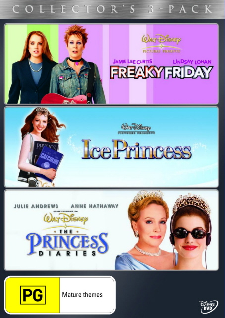 Freaky Friday (2003) / Ice Princess / The Princess Diaries - Collector's 3-Pack (3 Disc Set) on DVD image