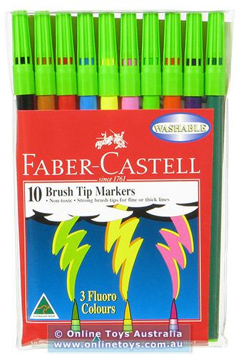 Faber-Castell: Felt Pens - Brush Brights - 10 Pack