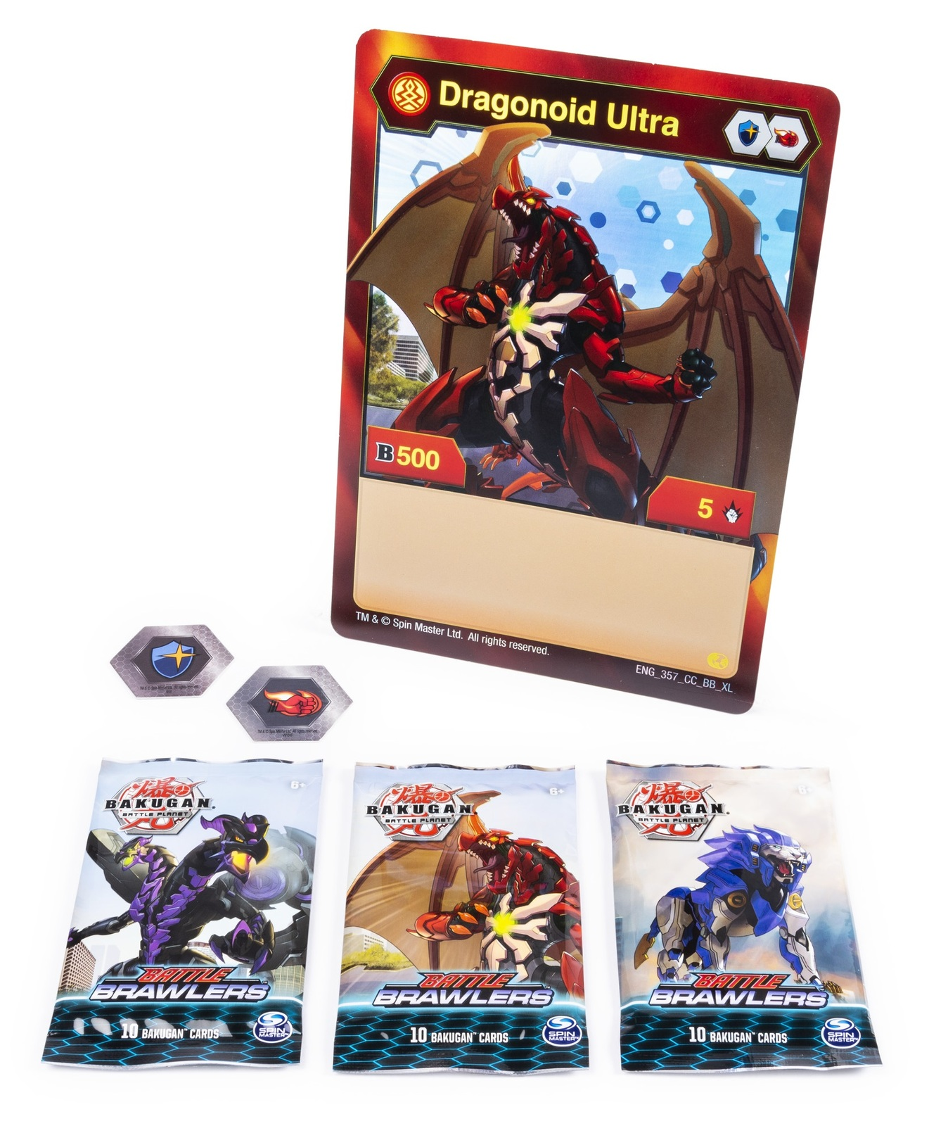 Bakugan Battle Brawlers Card Collection With 2 Bakucores Nib