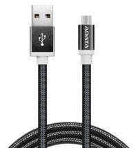 Adata: USB Type A to Micro USB Braided Connection Cable - 1m/Black