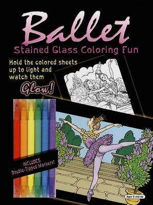 Ballet Stained Glass Coloring Fun by Darcy May image