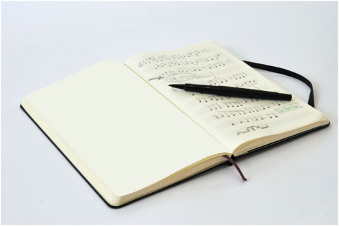 Moleskine Music Notebook (Large, Hard, Black) image