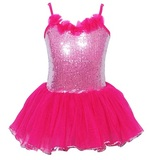Pink Poppy: Paris Diva Sparkle Dress (Size 5/6) - Hot Pink