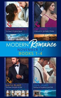 Modern Romance Collection: November 2017 Books 1 - 4 by Sharon Kendrick image