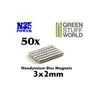 Neodymium Magnets 3x2mm - 50 units (N35)