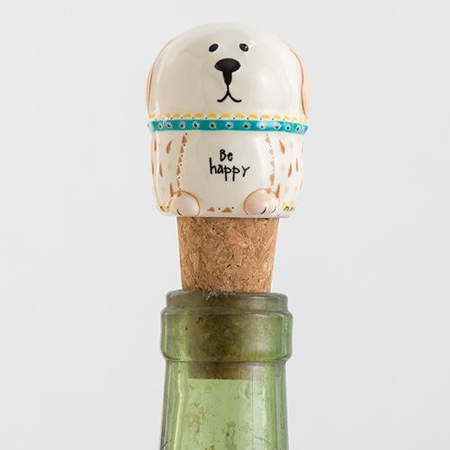 Natural Life: Bottle Stopper - Dog