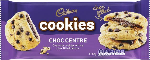 Cadbury Crunchy Choc Chip Cookies 156g