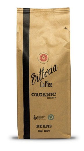 Vittoria Rainforest Alliance Organic Espresso Beans (1kg)
