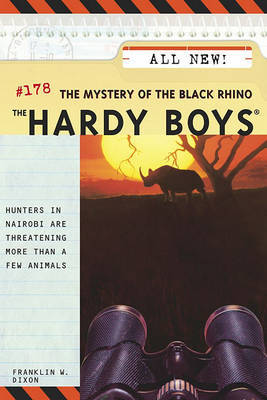 The Hardy Boys #178: The Mystery of the Black Rhino by Franklin W Dixon image