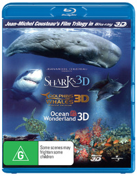 IMAX 3D Dolphins and Whales - Tribes of The Ocean / Sharks / Ocean Wonderland (3 Disc Set) on Blu-ray