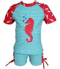 Hi-Hop: Seahorse Rash Suit - Aqua (2 Year)