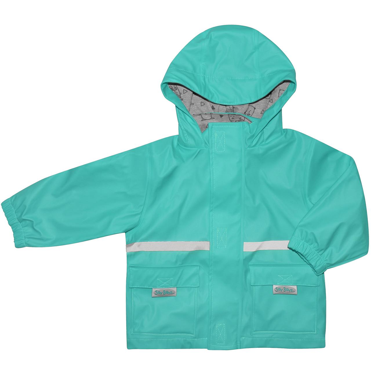 Silly Billyz Waterproof Jacket - Aqua (3-4 Yrs) image