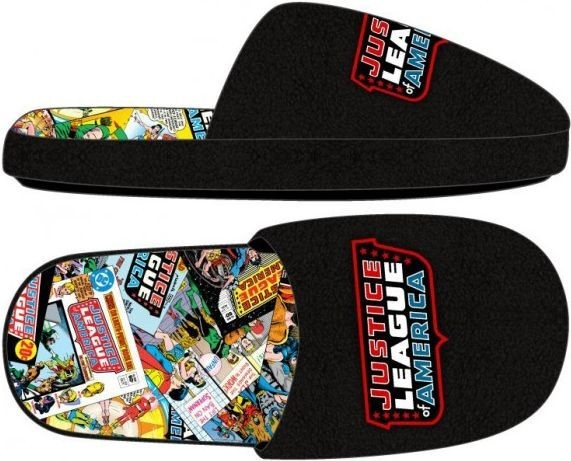 Justice League: Comic Sublimated - Slide Slippers (M)