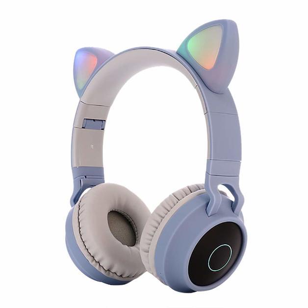 Cat Ears: Bluetooth Wireless Headset - Light Blue