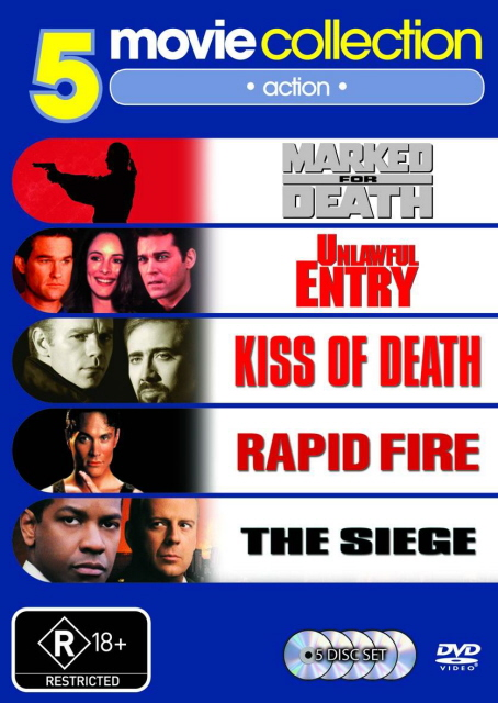 Marked for Death / Unlawful Entry / Kiss Of Death / Rapid Fire / The Siege (5 Disc Set) on DVD image