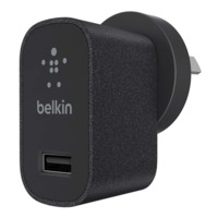 Belkin - 2.1A USB Metallic Wall Charger (Black)