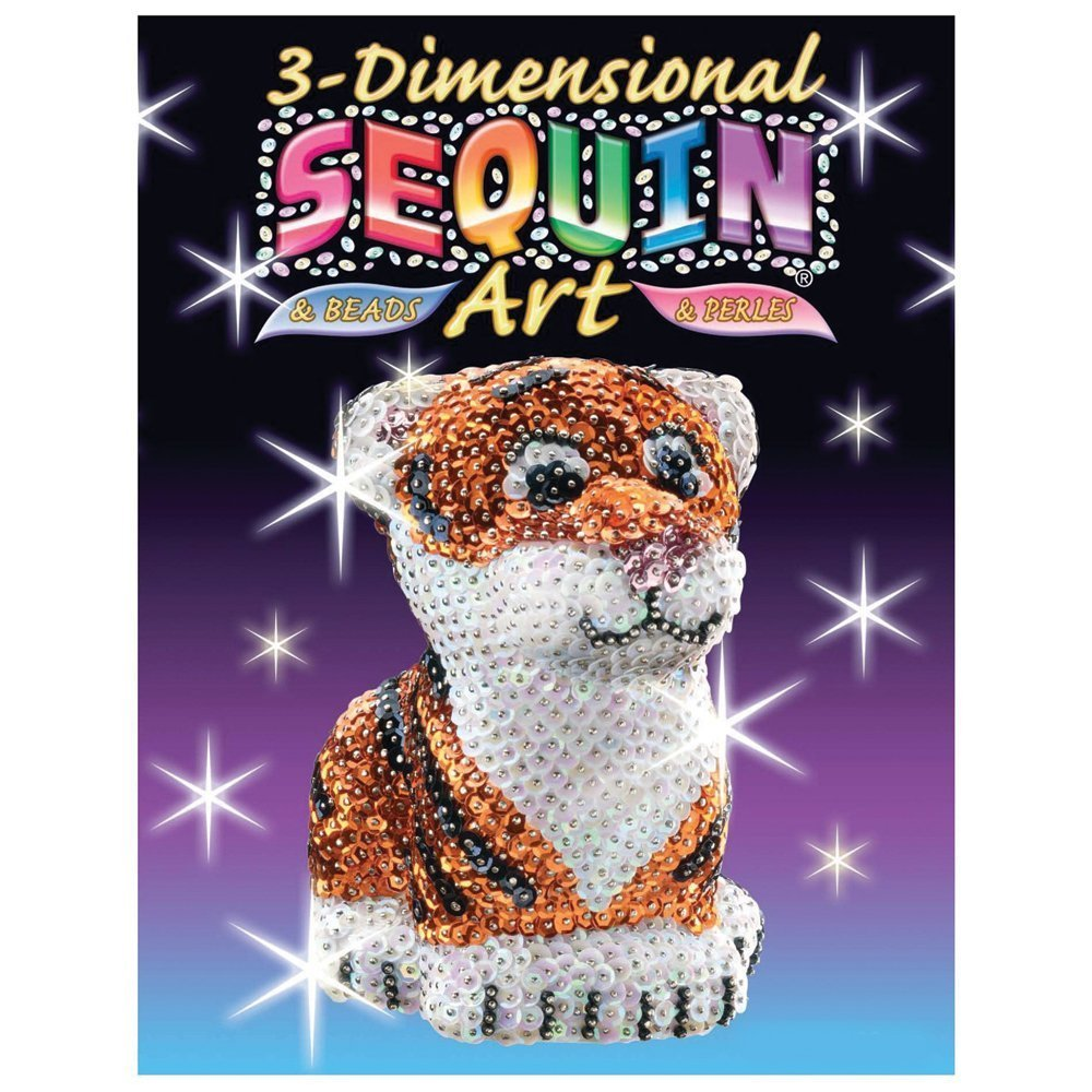 3D Sequin Art - Tiger image