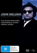 John Belushi Movie Collection (Blues Brothers / Continental Divide / Animal House) (3 Disc Set)  on DVD