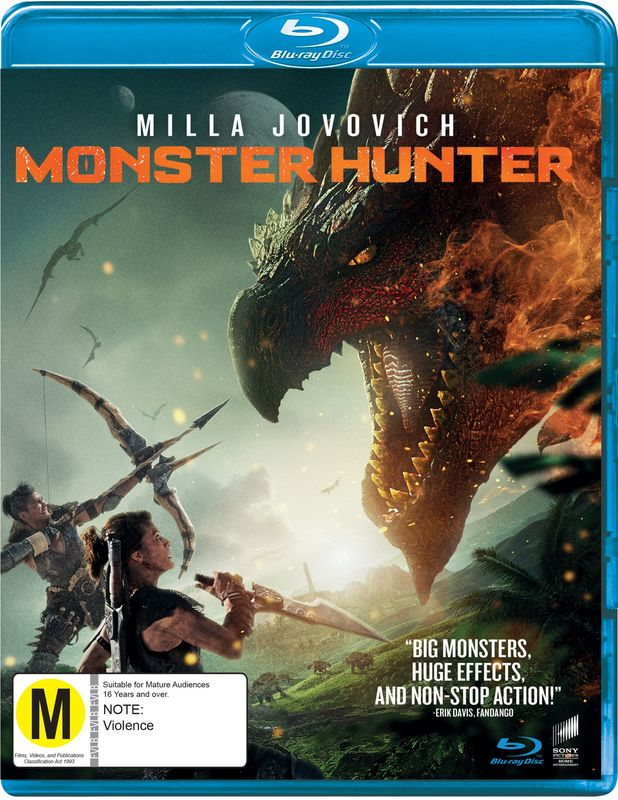 Monster Hunter on Blu-ray