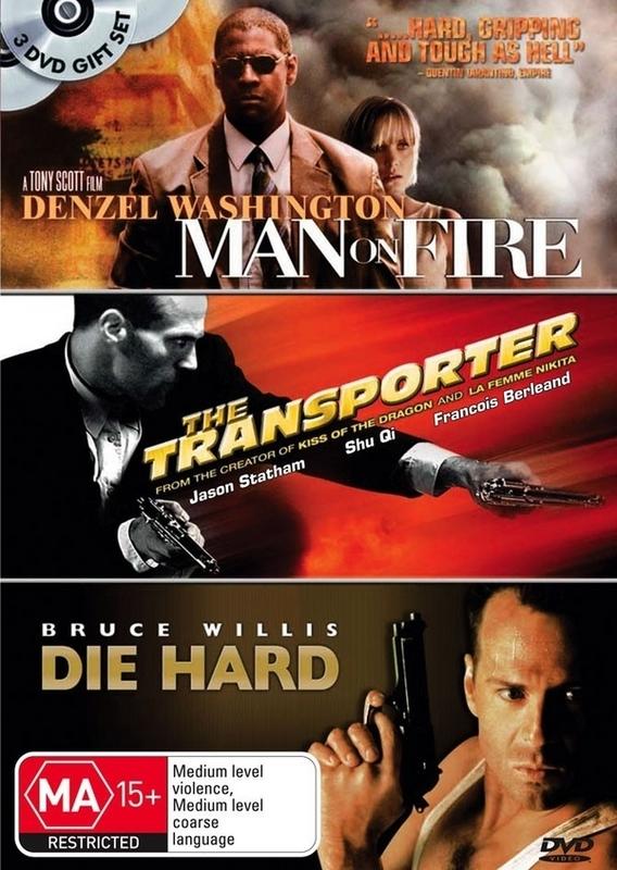 Man On Fire / Transporter / Die Hard (3 Disc Set) on DVD