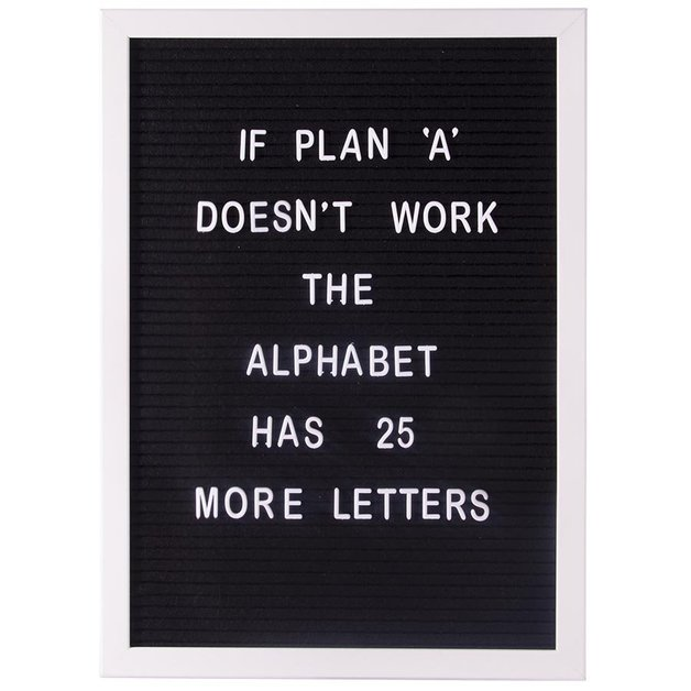 IS GIFT Letter Board - A3 Black/ White