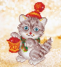 Diamond Dotz: Facet Art Kit - Christmas Kitten
