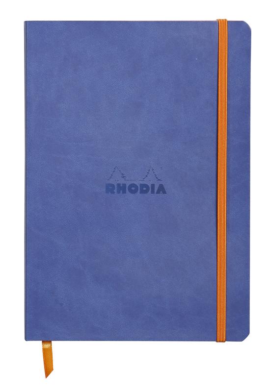 Rhodiarama A5 Softcover Notebook Dot Grid - Sapphire Blue