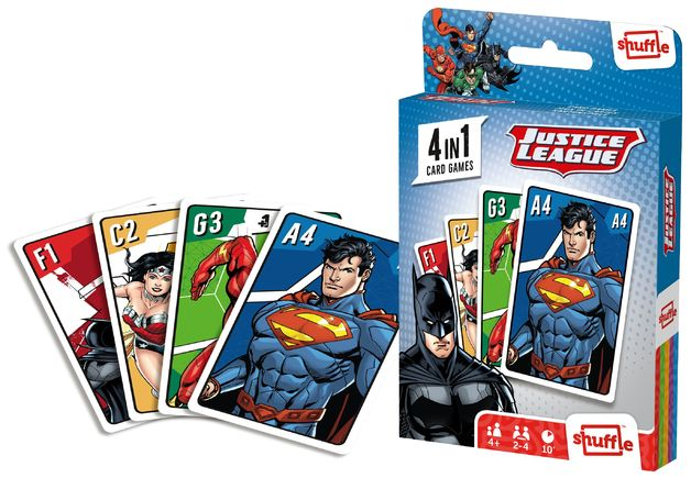 Shuffle: 4-In-1 Card Games - Justice League