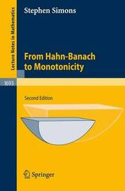 From Hahn-Banach to Monotonicity by Stephen Simons image