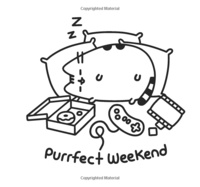 Mini Pusheen Coloring Book by Claire Belton image