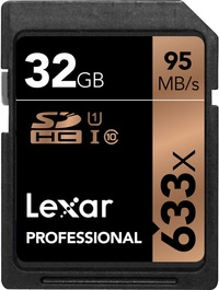 32GB Lexar Professional 633x U1 SDHC / SDXC