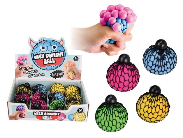 Toysmith: Mesh Squishy Ball - (Assorted Designs)