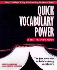Quick Vocabulary Power by Jack S. Romine image