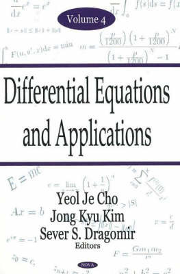 Differential Equations & Applications, Volume 4 by Yeol Je Cho