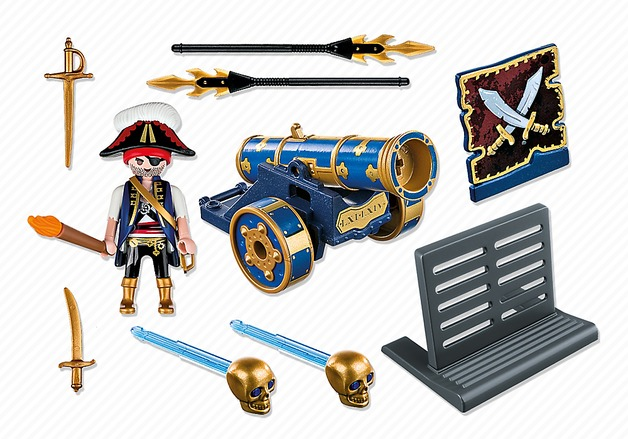 Playmobil: Foil Bag - Blue Pirate & Cannon (6164)
