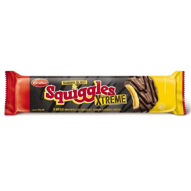 Griffins Squiggles Xtreme Banana Blast (200g)