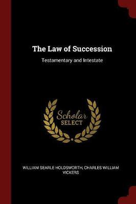 The Law of Succession by William Searle Holdsworth image