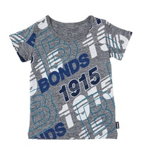 Bonds Short Sleeve Standard T-Shirt - Bonds Retro Logo (3-6 Months)