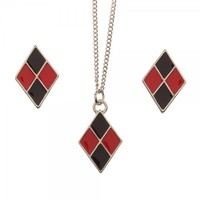 DC Comics: Harley Quinn - Necklace & Earring Set