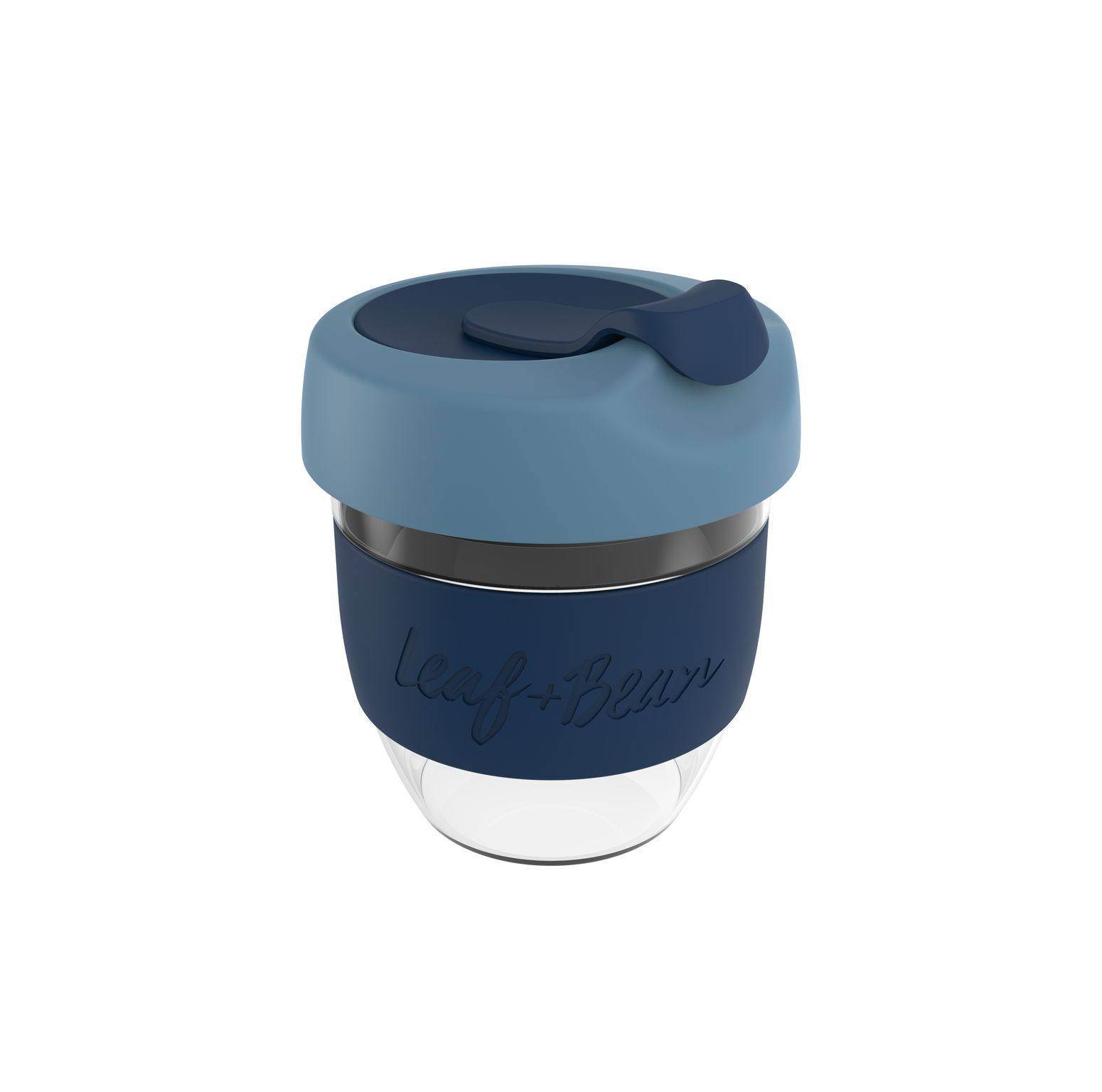 Leaf & Bean: Sorrento Glass Travel Cup - Marine/Midnight image