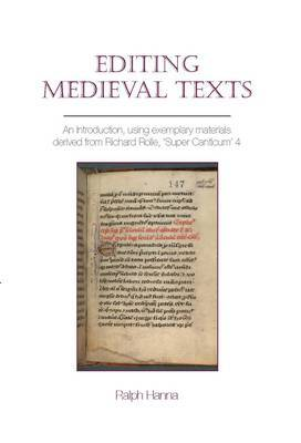 Editing Medieval Texts by Ralph Hanna image