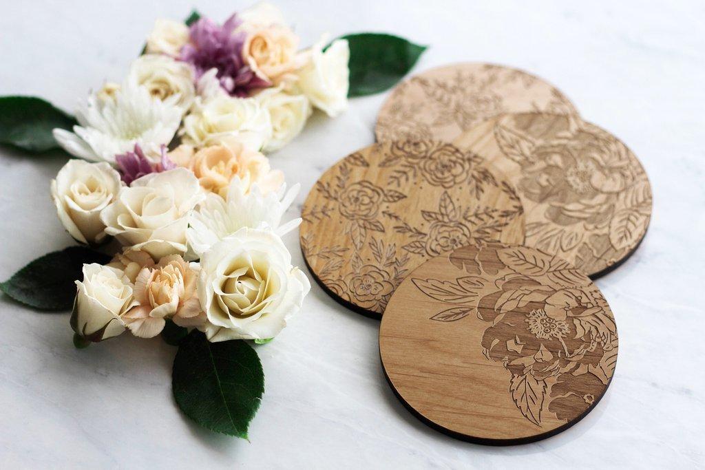 Cardtorial Floral Coasters image