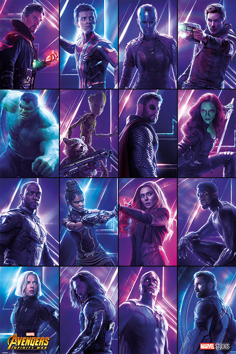 Marvel Avengers Maxi Poster - Infinity War Heroes (818) image