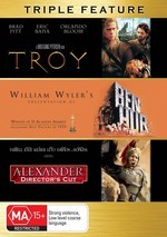 Troy / Ben-Hur / Alexander - Triple Feature (3 Disc Set) on DVD