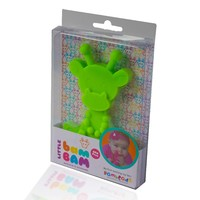 Little Bam Bam Silcone Teether - Lime image